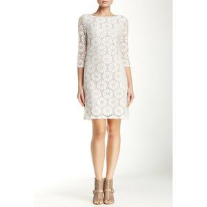 Vince Camuto Lace Sheath Dress White Lace, Nude
